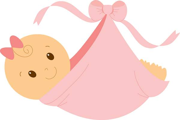 5443 Baby Girl free clipart.