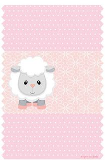 Baby Lamb in Pink: Free Printable Candy Bar Labels and Free.