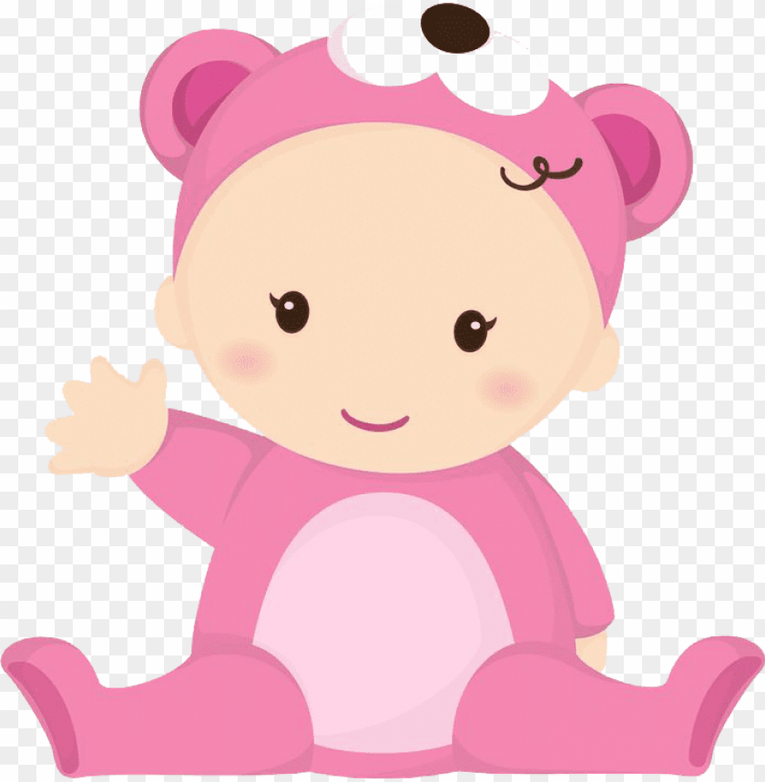 baby girl PNG image with transparent background.