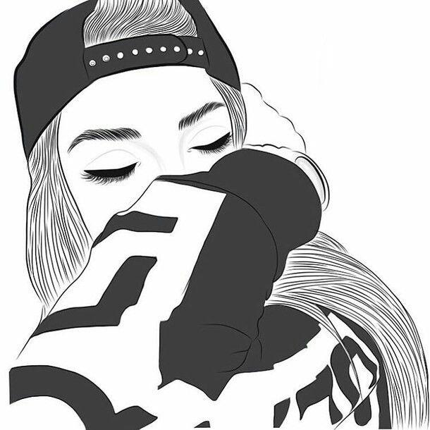 Tumblr Girl Clipart.