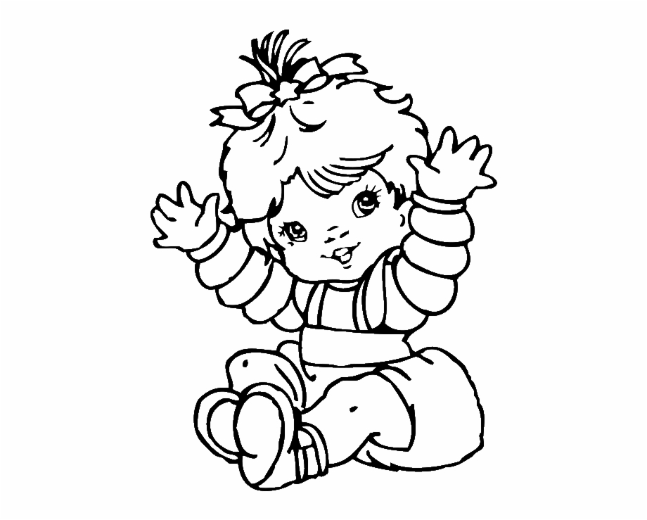 Alluring Cute Baby Girl Coloring Pages Colouring To.