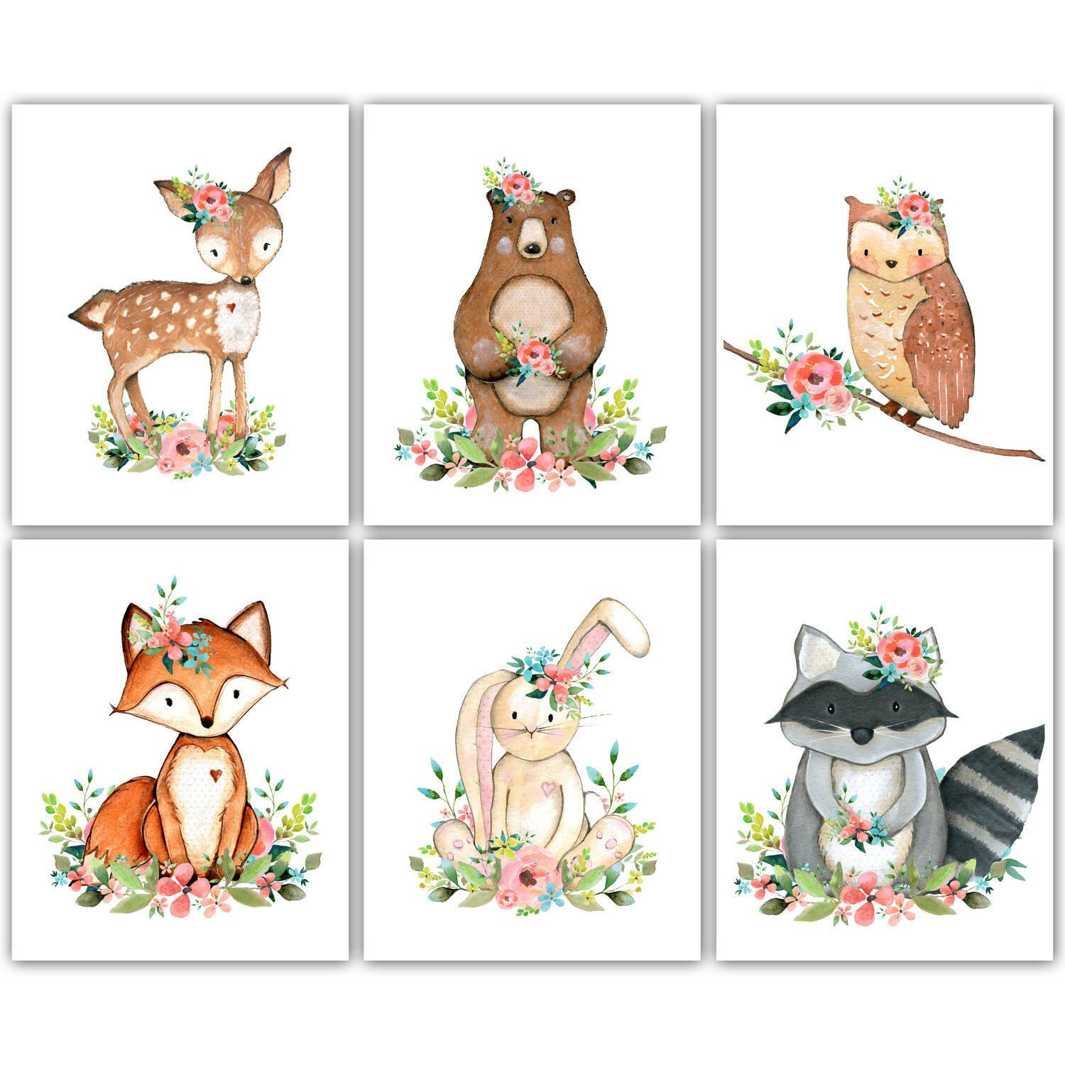 Woodland Animals Nursery Art. Woodland Nursery. Woodland.