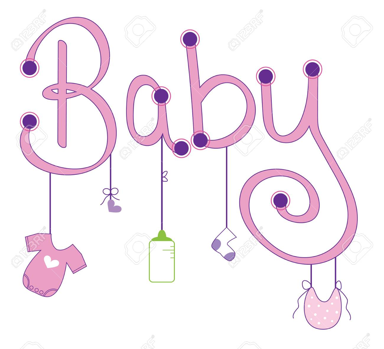 Baby Girl Clothes Line.