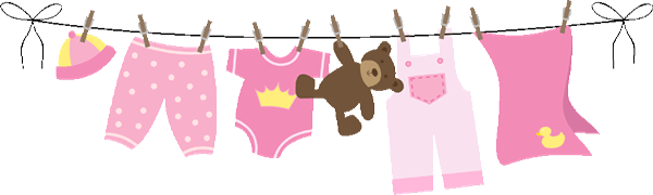Girl Clothesline Cliparts.