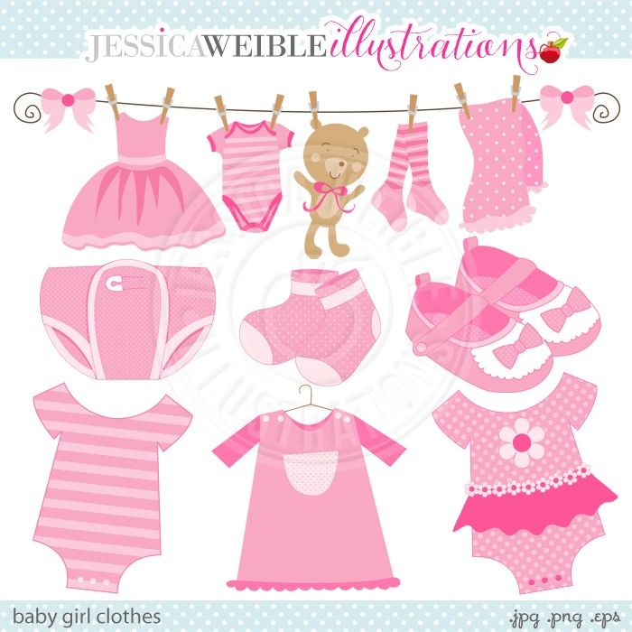 Baby Girl Clothes Clipart.