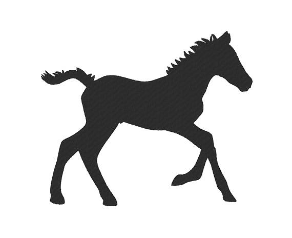 Baby Horse Silhouette.