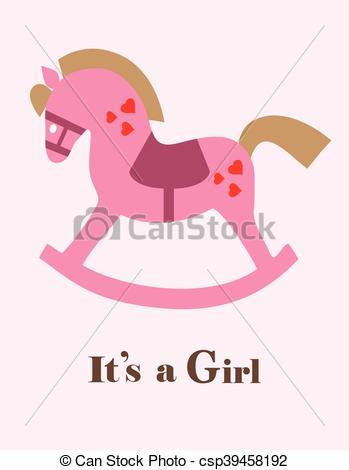 baby shower horse girl.