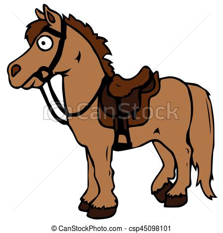 Cartoon farm animals. Cute horse smiles.. Eps 10 vector illustration.