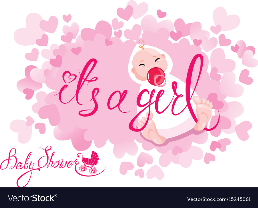 Baby shower its a girl congratulations on the.