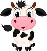 Cute Baby Cow Clipart.