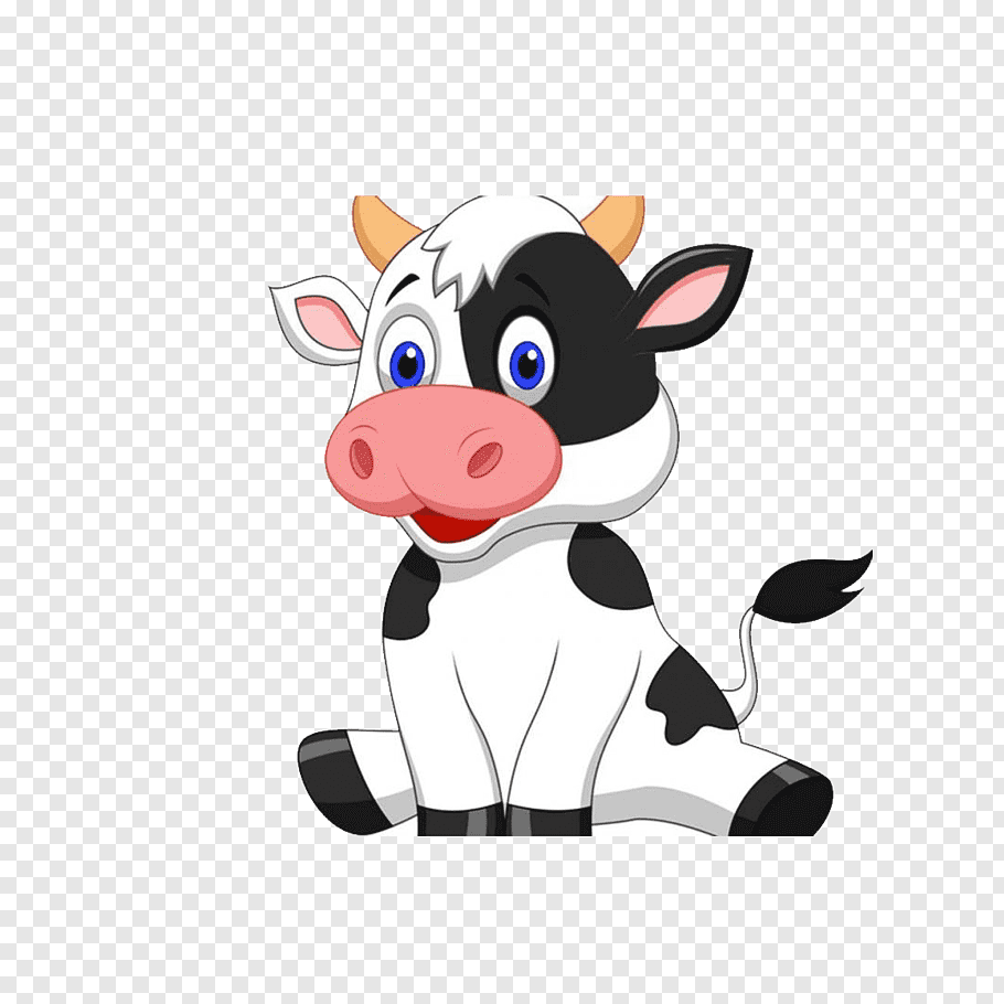 Black and white cow illustration, Cattle Infant Live.