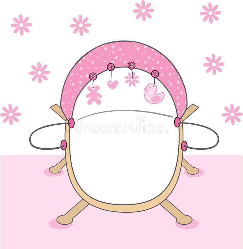 Baby Girl Crib Stock Illustrations.