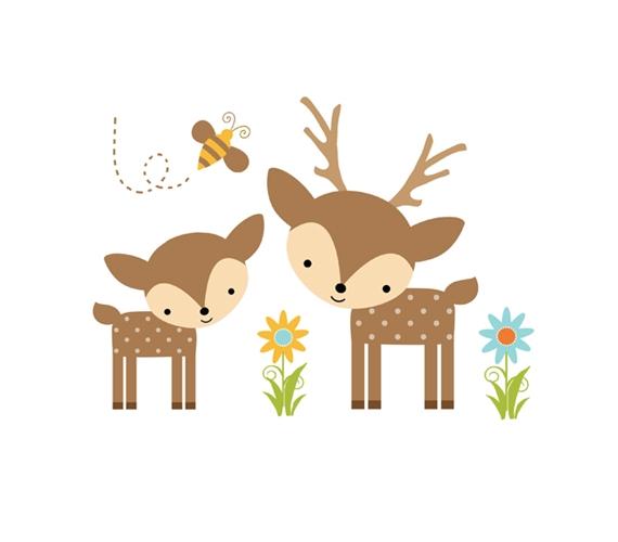 Baby Girl Deer Clipart.