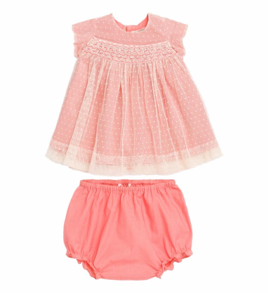 Maruska Baby Girls' Dress Blush Pink.
