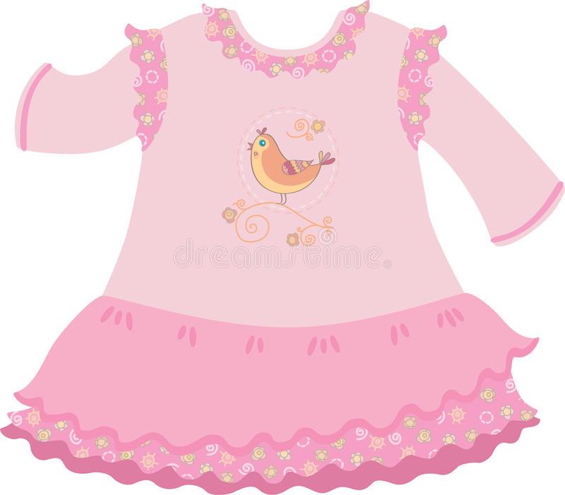 Baby Girl Dress Stock Illustrations.