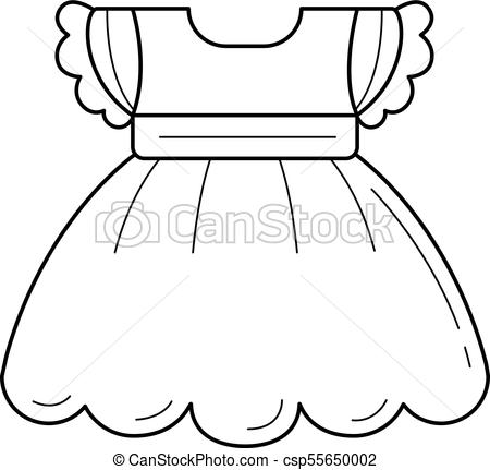 Child dress vector line icon..