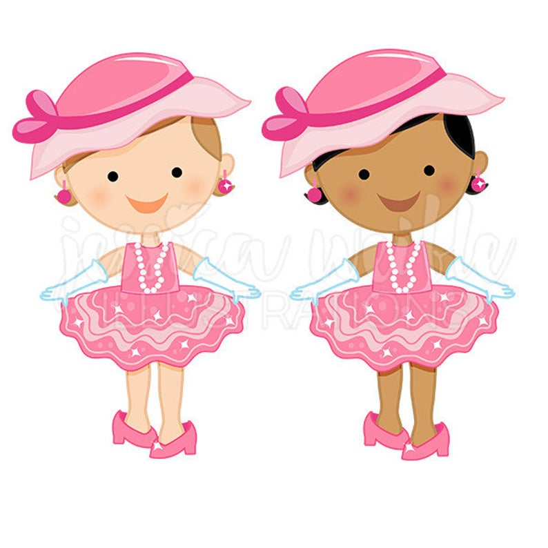 Dress Up Baby Girl Cute Digital Clipart, Toddler Girl Clip art, Playing  Dress Up Graphics, Baby Girl Playing Dress Up Illustration, #289.