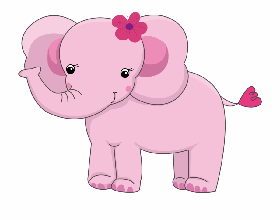 Png Transparent Library Pink Baby Elephant Clipart.