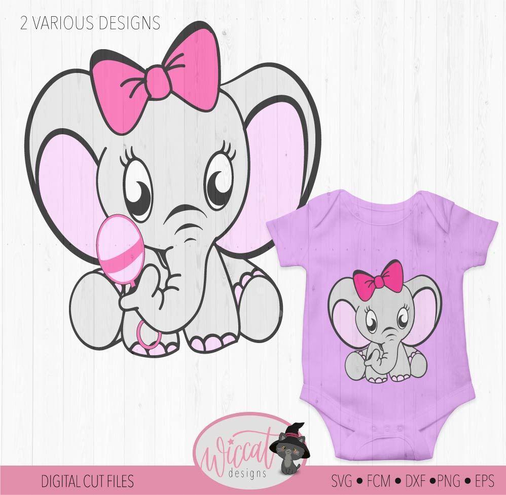 Baby girl Elephant with rattle.