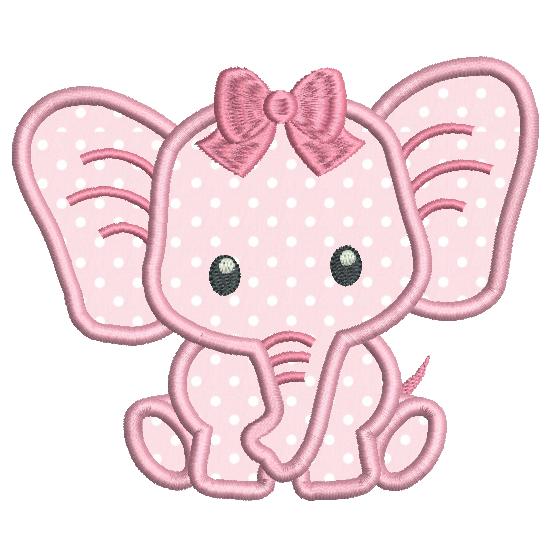 Baby Elephant Applique (SA545.