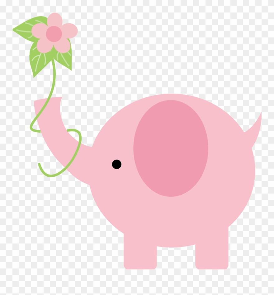 Pink Elephant, Little Elephant, Elephant Baby Showers,.