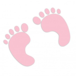 Baby girl footprints clipart image #4293.