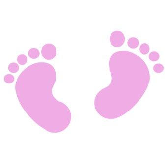 Baby Girl Footprint Clipart.