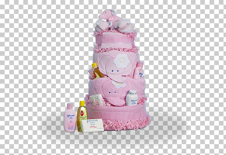 Diaper Cake Infant Gift Baby shower, baby girl PNG clipart.