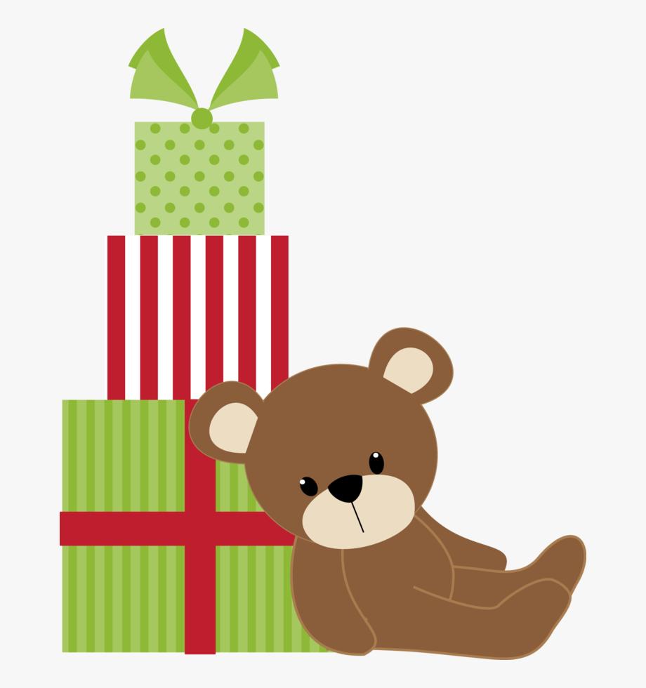 Christmas Teddy Bear And Gifts Clip Art Christmas Teddy.