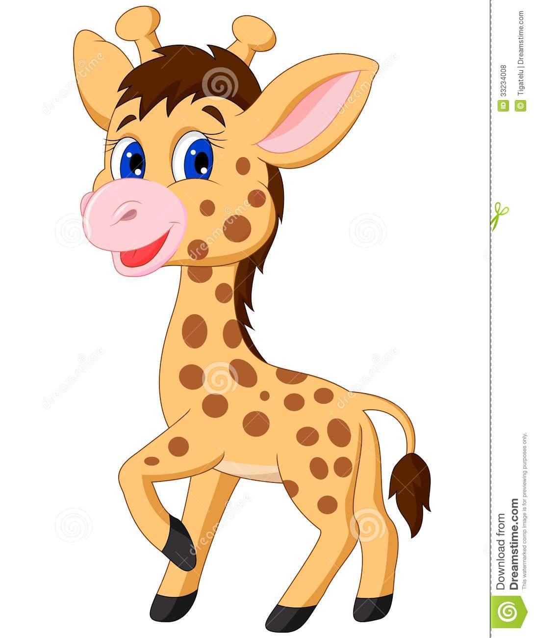 Pink Giraffe Clipart.