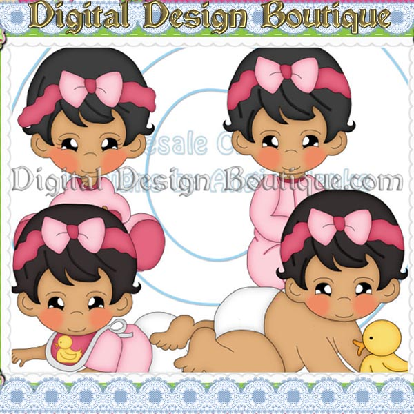 Baby Girl Hair Clipart.