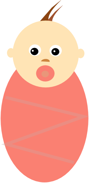 Baby Girl Brown Hair SVG Downloads.