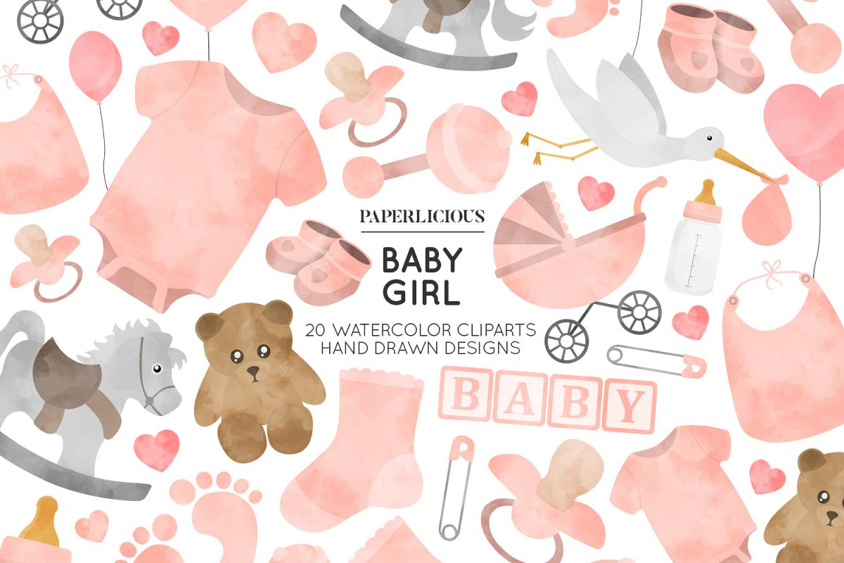 Baby Girl Nursery Cliparts.