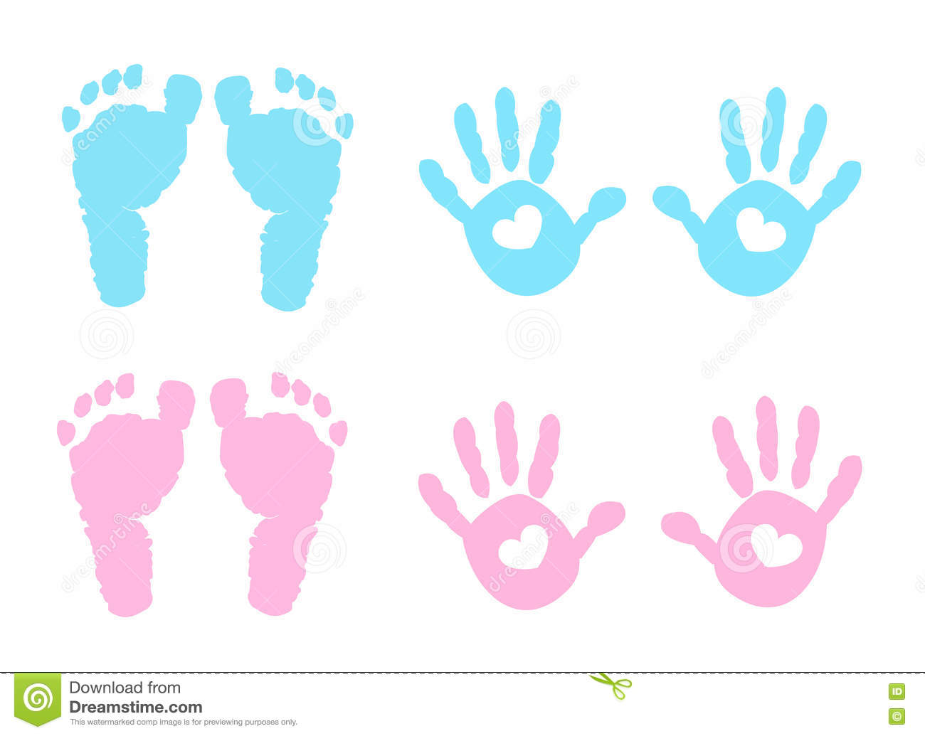Baby Handprint Clipart.