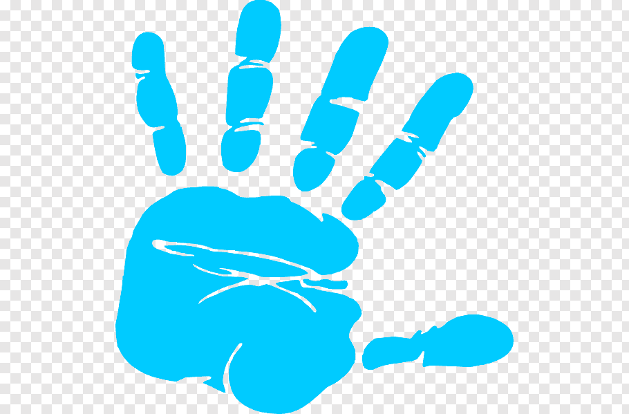 Blue hand print, Hand Free content Printing, Free Baby.