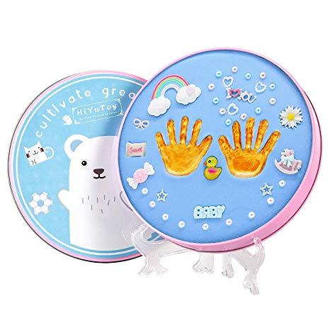 HiYuToy Baby Handprint Kit & Footprint DIY Hand Foot Print Perfect for Baby  Boy Gifts,Top Baby Girl Gifts, Newborn Baby Keepsake Baby Gifts Clay.