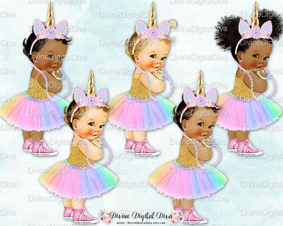 Unicorn Princess Pastel Rainbow Colors Tutu Pink Sneakers.