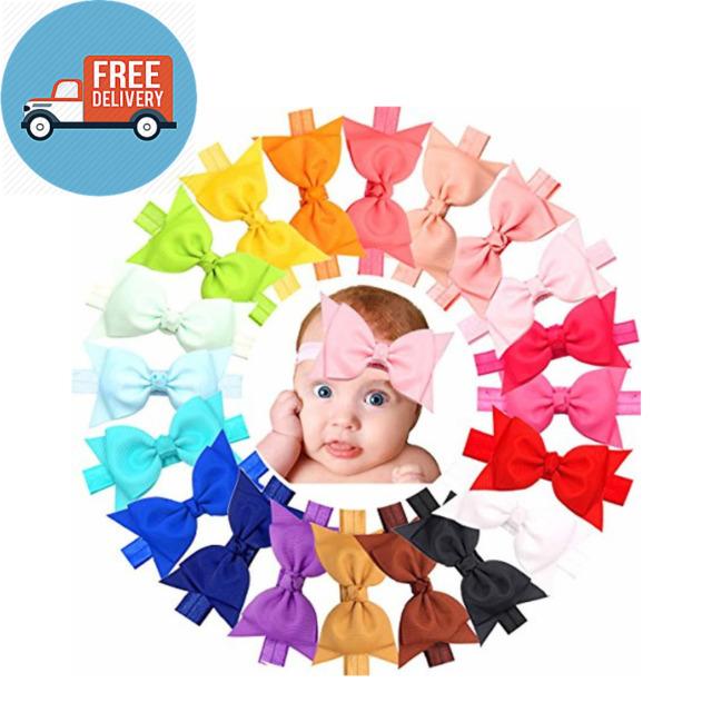 20pcs Baby Girls headbands With 4\