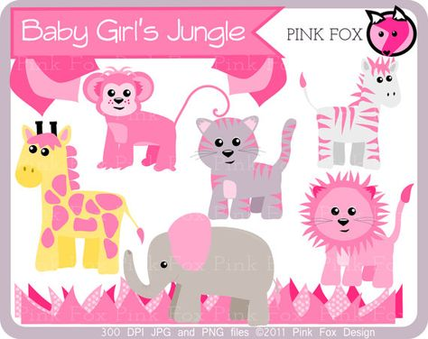 Jungle animal clip art lion clipart girl baby by.