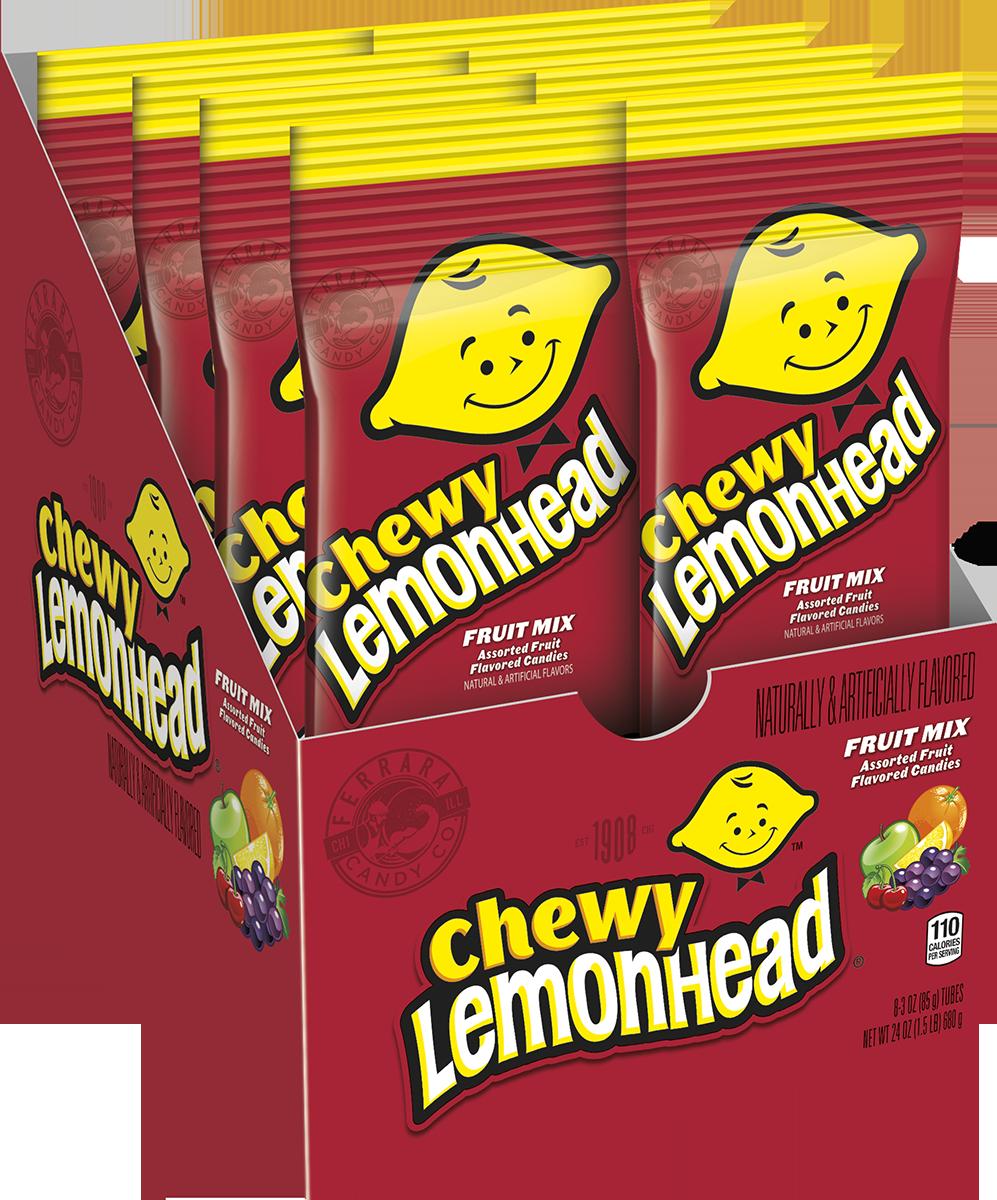Lemonhead, Fruit Mix Chewy Lemonhead Candy, 3 Oz, 8 Ct.