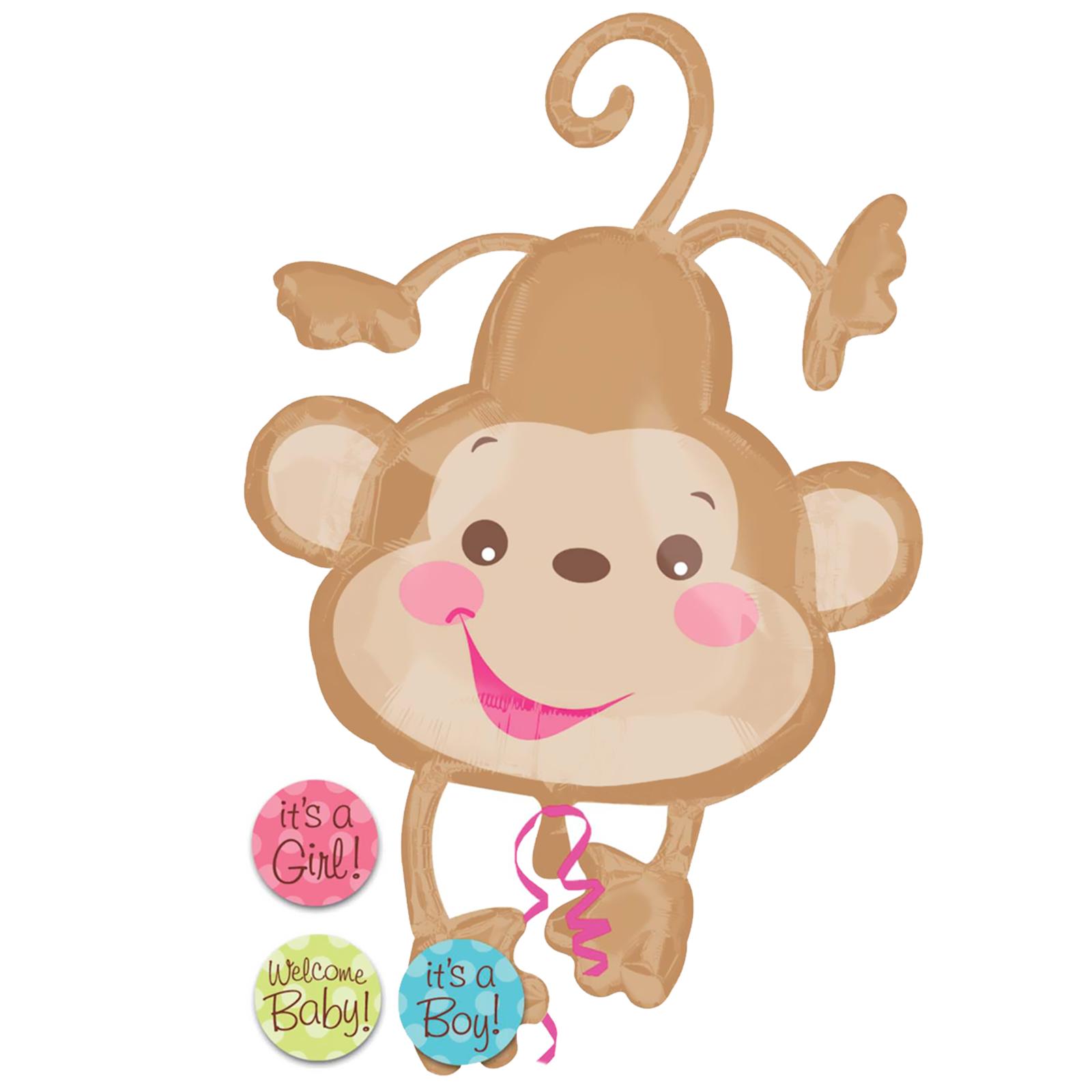 Its a girl monkey twin girls clipart.