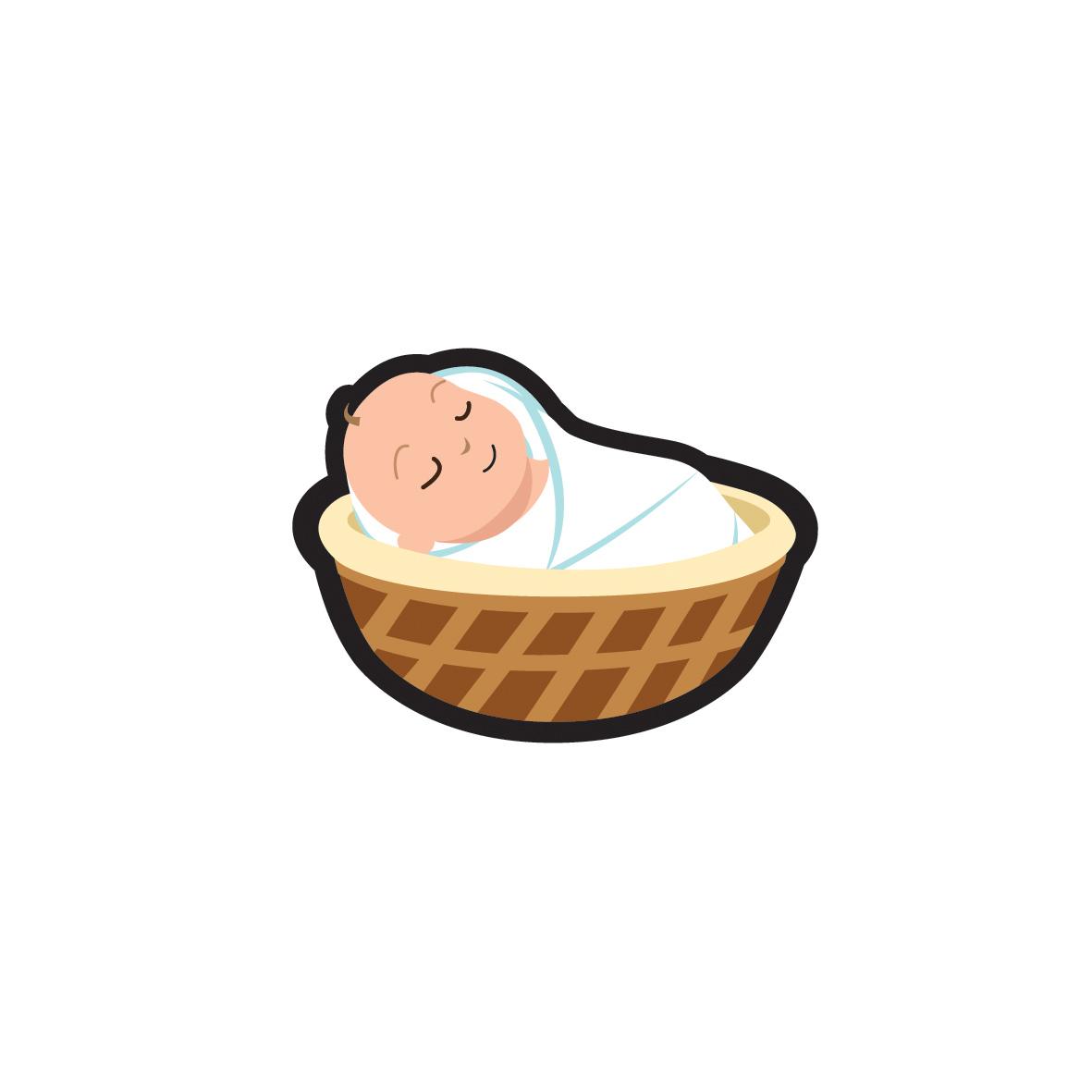 Infant clipart basket, Infant basket Transparent FREE for.