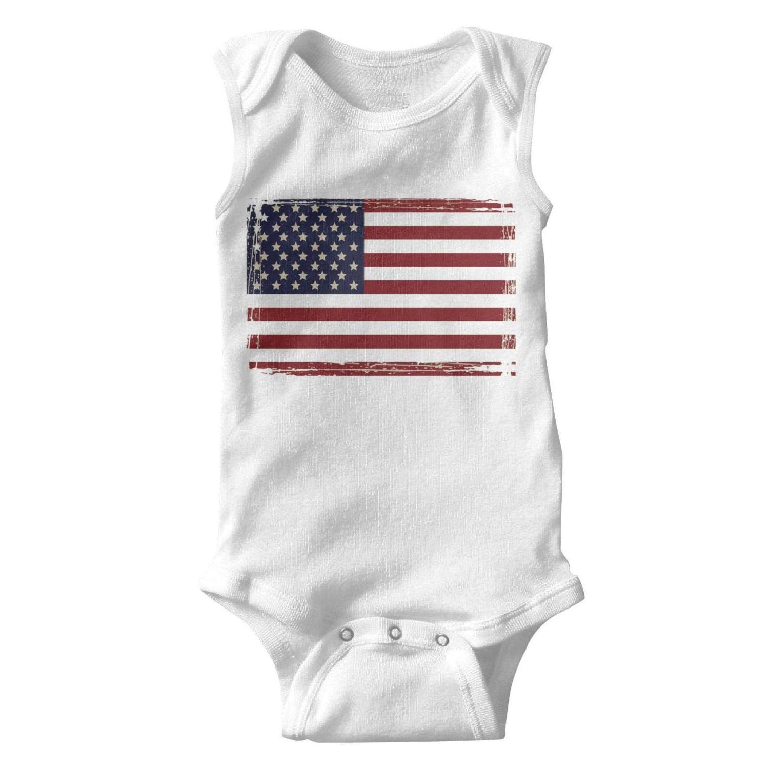 Amazon.com: Sleeveless Newborn Baby Girl Onesies American Flag.
