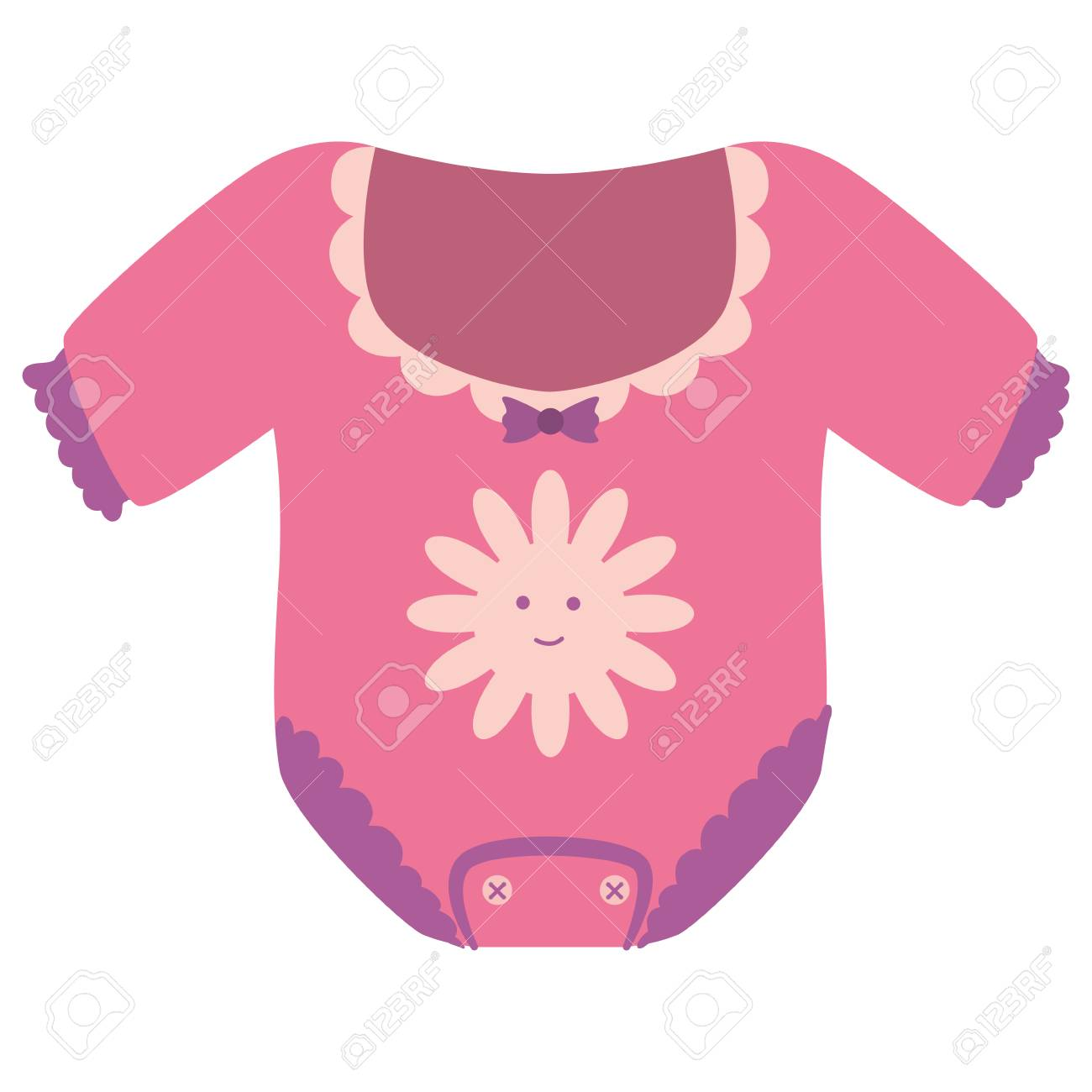 girl onesie baby shower related icon image vector illustration...