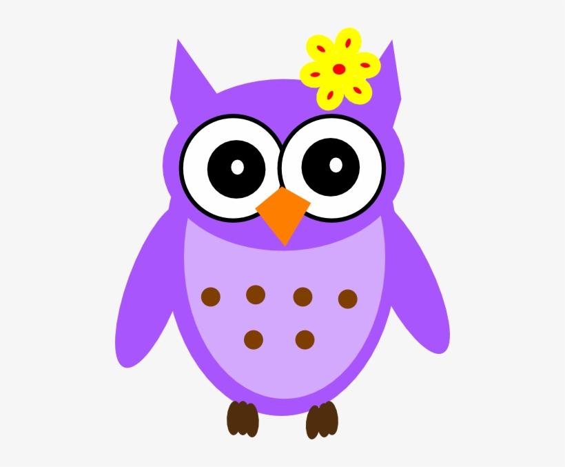 Purple Baby Girl Owl Clip Art.