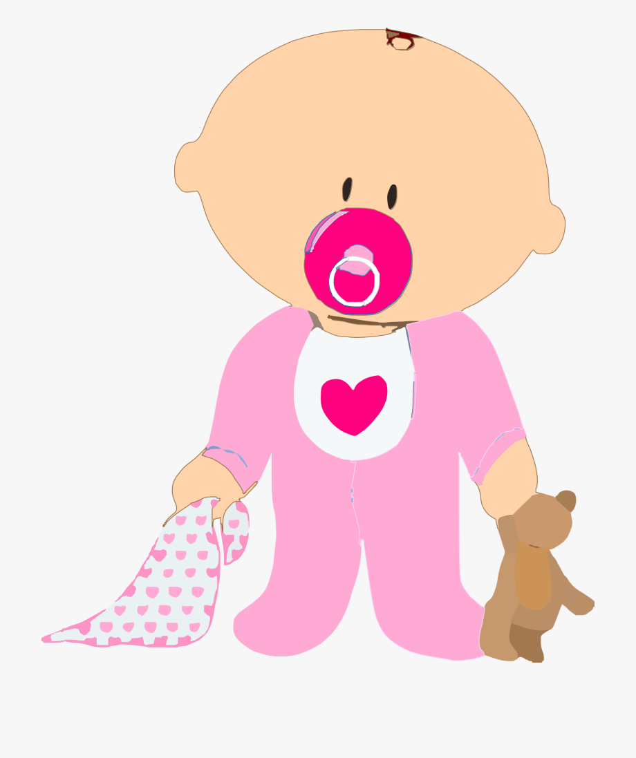 Baby Girl Teddy Pacifier Blanket Pink Stand.