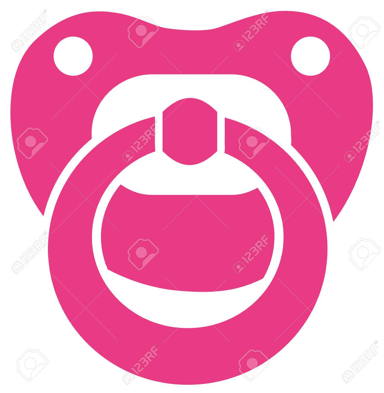 Pink baby girl pacifier.