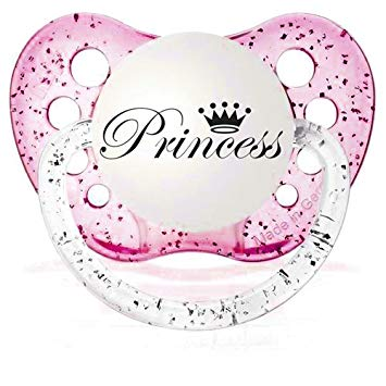 Personalized Baby Girl Princess Pacifier.