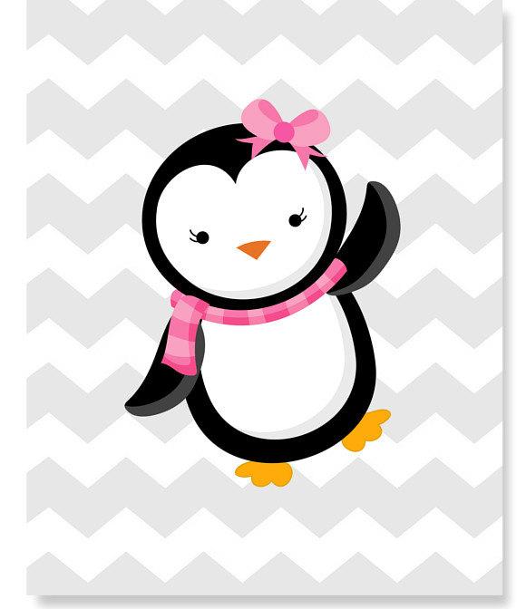 Baby Girl Penguin Clipart.
