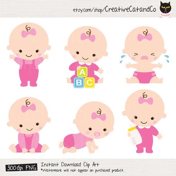 Baby Girl Clipart Baby Girl Clip Art Baby Girl Shower Clipart Cute Baby  Girl Clip Art Baby Girl Cartoon Baby Girl Shower Illustration.